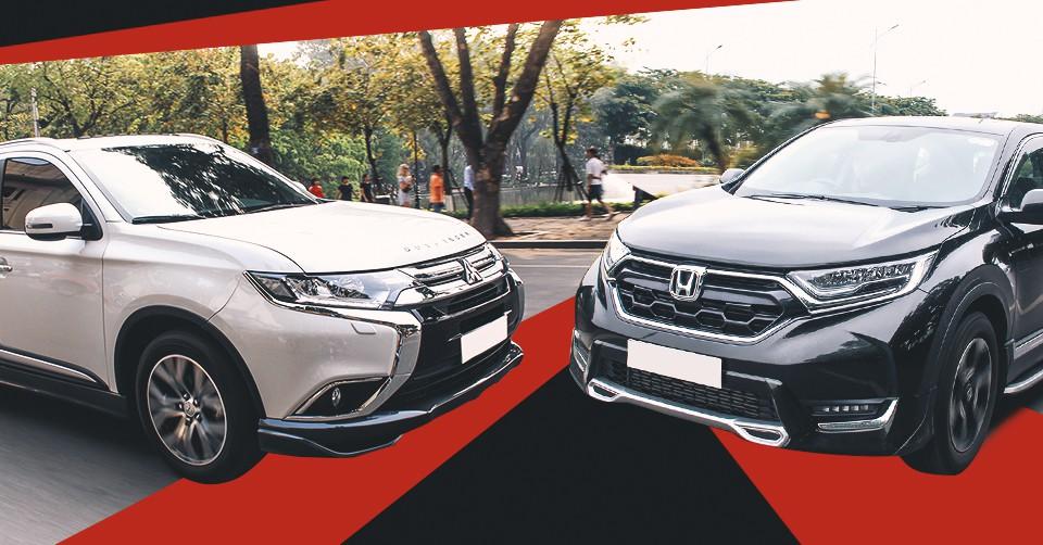 So sánh nhanh Mitsubishi Outlander 2.4CVT với Honda CR-V 1.5L