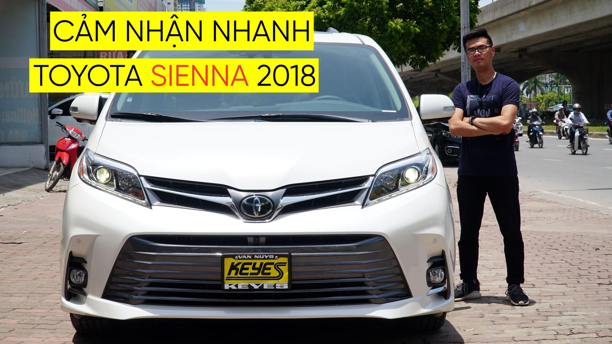 Cảm nhận nhanh Toyota Sienna 2018
