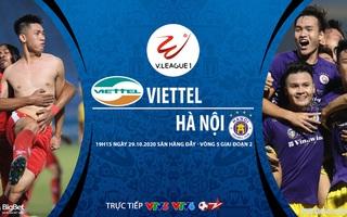 Bóng đá Việt Nam: Soi kèo nhà cái Viettel vs Hà Nội vòng 5 giai đoạn 2 V-League 2020