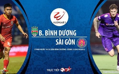 Bóng đá Việt Nam: Soi kèo nhà cái Bình Dương vs Sài Gòn vòng 2 giai đoạn 2 V-League