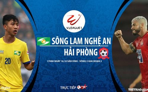 Bóng đá Việt Nam: Soi kèo nhà cái SLNA vs Hải Phòng vòng 2 giai đoạn 2 V-League