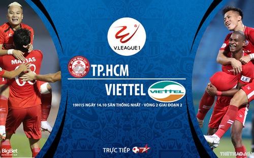 Bóng đá Việt Nam: Soi kèo nhà cái TPHCM vs Viettel vòng 2 giai đoạn 2 V-League