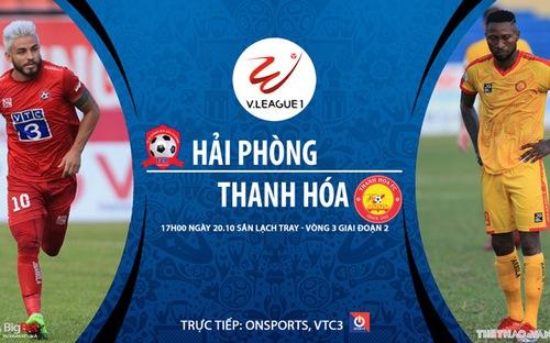 Bóng đá Việt Nam: Soi kèo nhà cái Hải Phòng vs Thanh Hóa vòng 3 giai đoạn 2 V-League