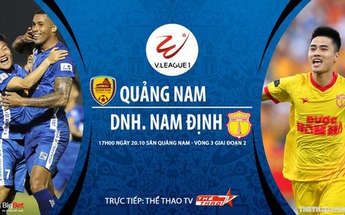 Bóng đá Việt Nam: Soi kèo nhà cái Quảng Nam vs Nam Định vòng 3 giai đoạn 2 V-League