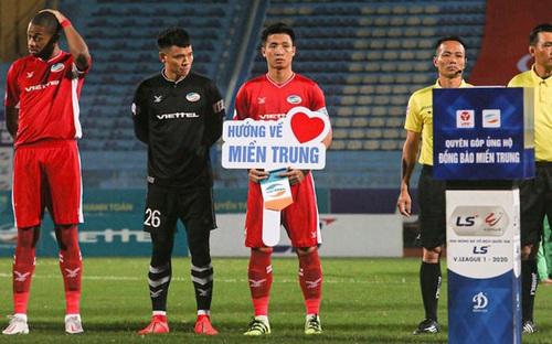 Cầu thủ Viettel, Bình Dương kêu gọi quyên góp hướng về đồng bào miền Trung
