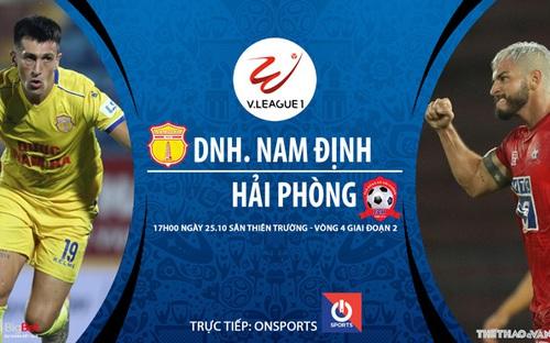 Bóng đá Việt Nam: Soi kèo nhà cái. Nam Định vs Hải Phòng vòng 4 giai đoạn 2 V-League