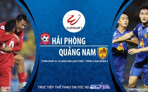 Bóng đá Việt Nam: Soi kèo nhà cái Hải Phòng vs Quảng Nam vòng 5 giai đoạn 2 V-League 2020