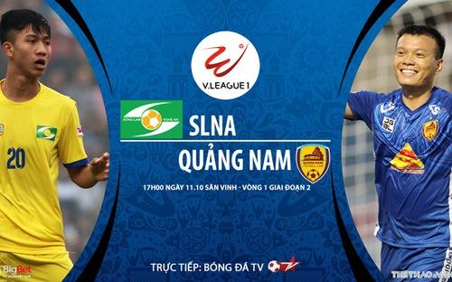 Bóng đá Việt Nam: Soi kèo nhà cái SLNA vs Quảng Nam vòng 1 giai đoạn 2 V-League