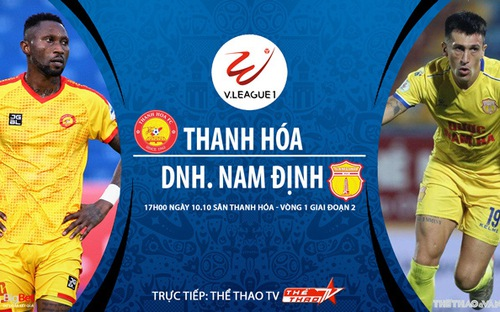 Bóng đá Việt Nam: Soi kèo nhà cái Thanh Hóa vs Nam Định vòng 1 giai đoạn 2 V-League