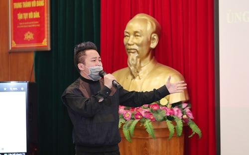 Ca sĩ Tùng Dương, Phạm Thùy Dung đeo khẩu trang hát tặng Bộ tư lệnh Bộ đội biên phòng