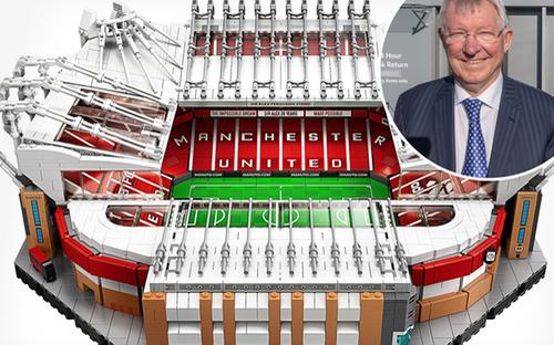 Sir Alex Ferguson ghép Lego sân Old Trafford
