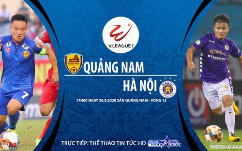 Bóng đá Việt Nam: Soi kèo bóng đá Quảng Nam vs Hà Nội vòng 12 V-League 2020