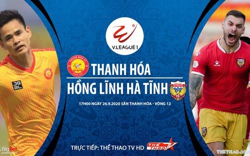 Bóng đá Việt Nam: Soi kèo bóng đá Thanh Hóa vs Hà Tĩnh vòng 12 V-League 2020