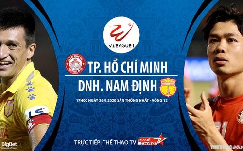 Bóng đá Việt Nam: Soi kèo bóng đá TPHCM vs Nam Định vòng 12 V-League 2020