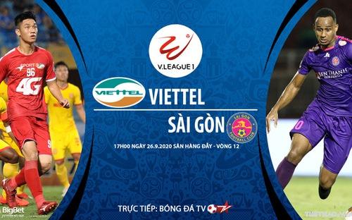Bóng đá Việt nam: Soi kèo bóng đá Viettel vs Sài Gòn vòng 12 V-League 2020